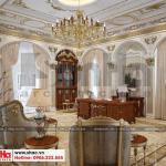 15 Thiết kế nội thất thư phòng biệt thự lâu đài 3 tầng 1 hầm tại gia lai