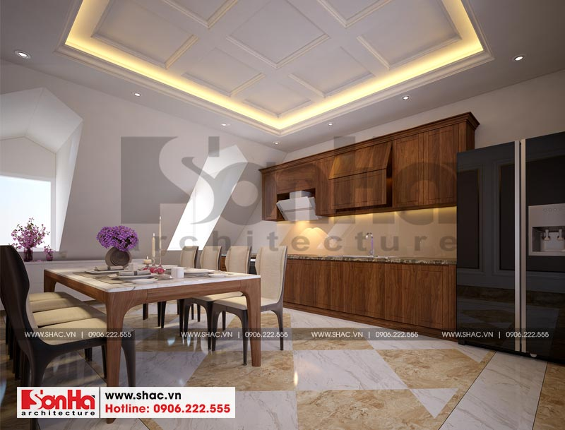 Thiết kế thi công nội thất nhà phố liền kề 97,5m2 phong cách tân cổ điển tại khu Shophouse Hạ Long – Quảng Ninh 16