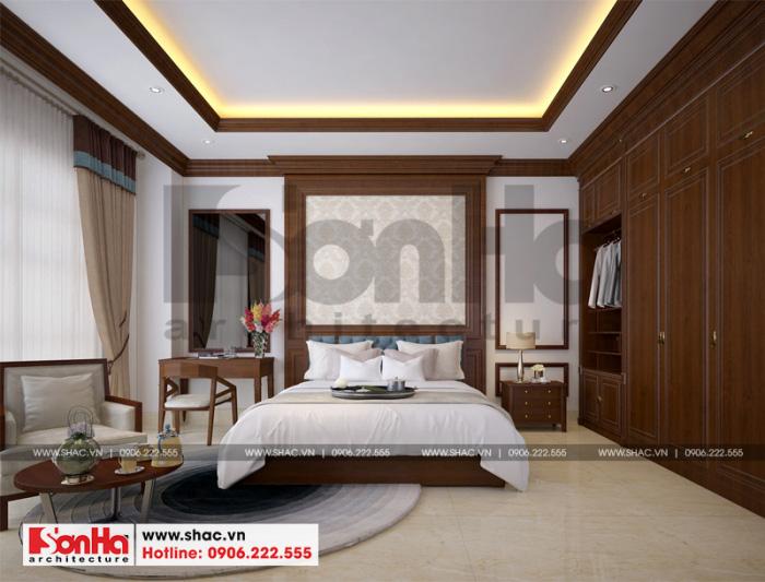 Sử dụng nội thất gỗ chính là điểm chung trong thiết kế của ngôi biệt thự Pháp này
