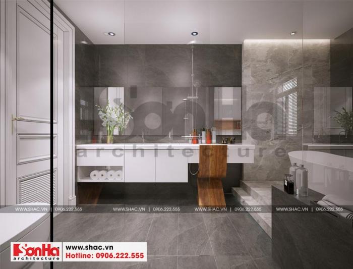 Mẫu thiết kế nội thất phòng tắm và nhà vệ sinh nhà phố liền kề tại khu shophouse Hạ Long