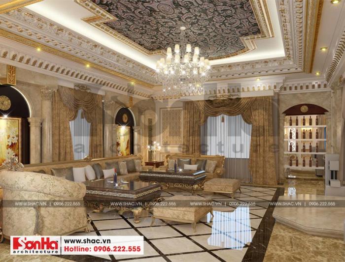 Phương án thiết kế phòng karaoke biệt thự 3 tầng phong cách lâu đài hoàng gia