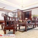 19 Thiết kế nội thất phòng khách tầng 5 biệt thự pháp 5 tầng tại ninh bình sh btp 0134