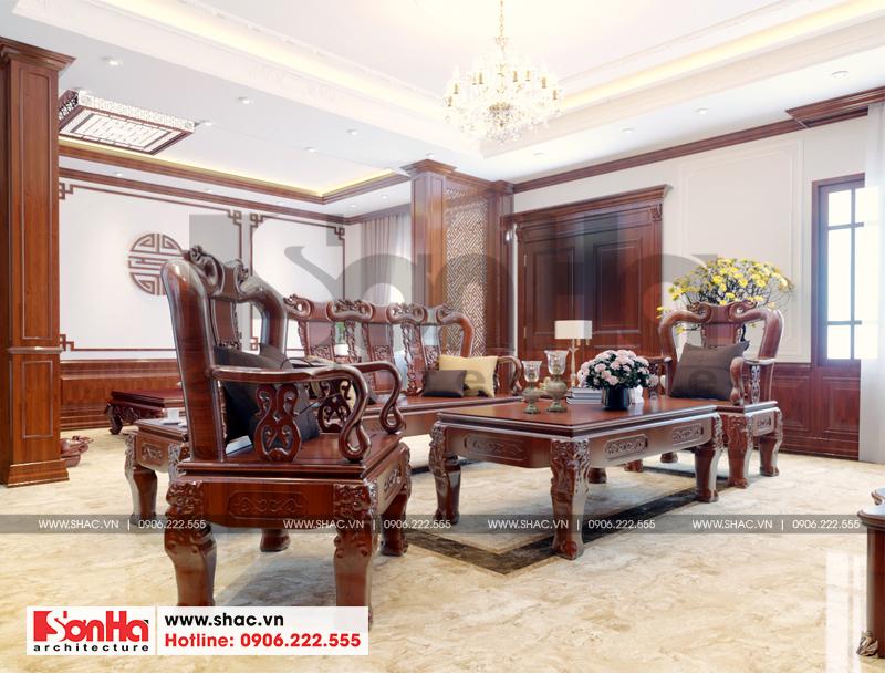 Mẫu thiết kế biệt thự kiểu Pháp 5 tầng có tầng hầm tại Ninh Bình – SH BTP 0134 30