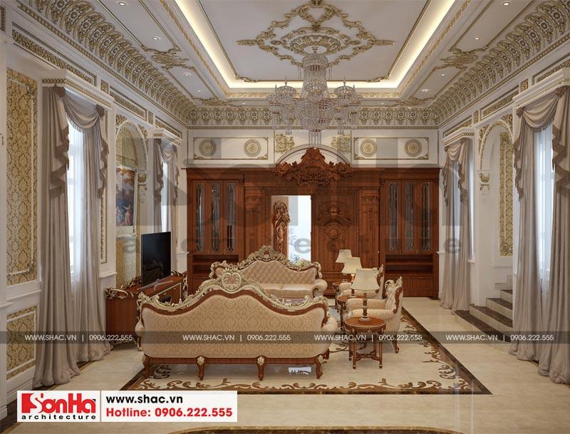Thiết kế nội thất biệt thự lâu đài xa hoa bậc nhất phố núi Pleiku (Gia Lai) 2
