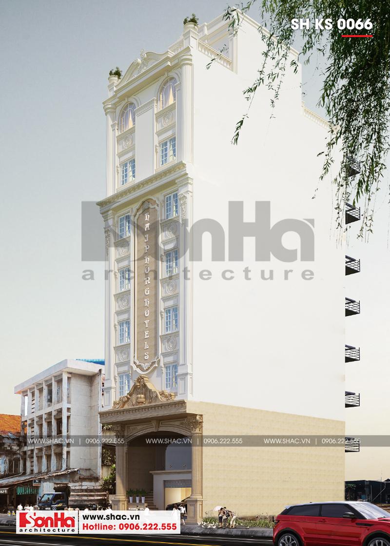 Mẫu khách sạn kết hợp căn hộ cho thuê tân cổ điển tiêu chuẩn 3 sao tại Hải Phòng – SH KS 0066 2