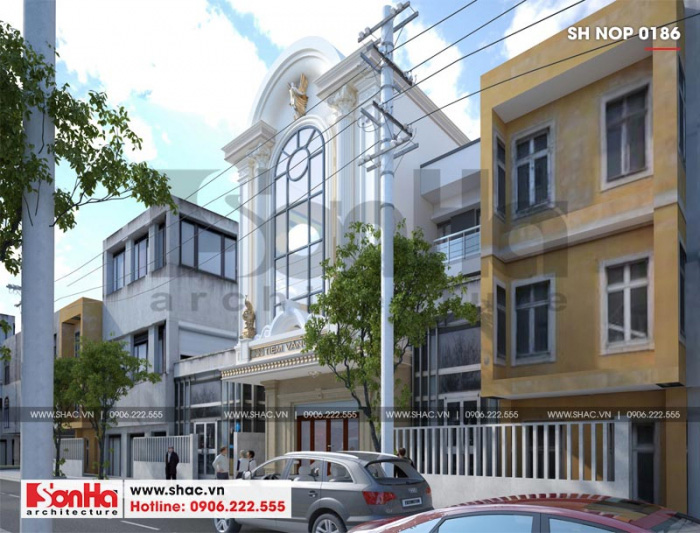Toàn cảnh kiến trúc đẹp của ngôi nhà ống 3 tầng diện tích 92,6m2 (6,88m x 13,46m) tọa lạc tại trung tâm TP. Cẩm Phả - Quảng Ninh