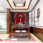 20 Mẫu nội thất phòng thờ biệt thự phong cách pháp tại ninh bình sh btp 0134