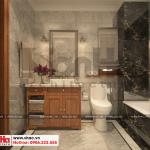 21 Thiết kế nội thất phòng tắm wc biệt thự pháp mặt tiền 9,3m tại ninh bình sh btp 0134