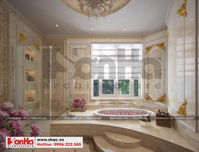 Không gian phòng tắm xa hoa ngôi biệt thự chinh phục bất kỳ ai