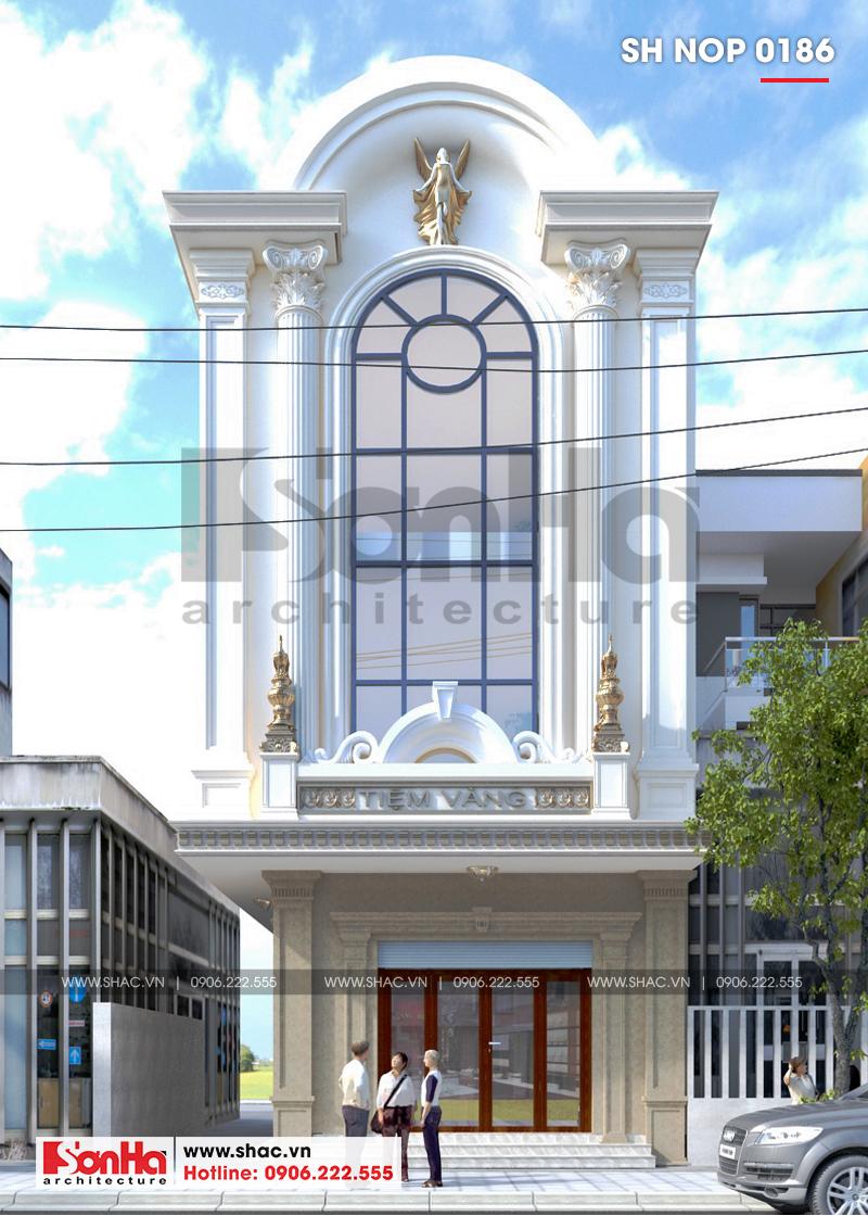 Cận cảnh kiến trúc mặt tiền 6,88m của nhà ống phong cách Pháp sang trọng, vững chãi tại TP. Cẩm Phả mà gia đình anh Cường sở hữu