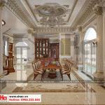 3 Thiết kế nội thất phòng ăn biệt thự lâu đài 3 tầng 1 hầm tại gia lai