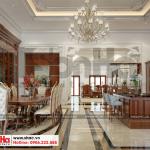 3 Thiết kế nội thất phòng bếp ăn biệt thự kiểu pháp tại ninh bình sh btp 0134