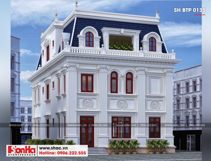 Từng chi tiết trang trí kiến trúc mặt sau ngôi biệt thự đều được KTS Sơn Hà lên ý tưởng thiết kế tinh tế nhất