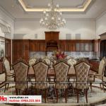 4 Mẫu nội thất phòng bếp ăn biệt thự pháp đẹp tại ninh bình sh btp 0134