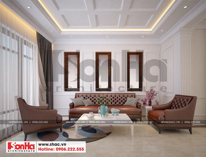 Thiết kế nội thất phòng khách phong cách hiện đại đơn giản mà vẫn toát lên vẻ đẹp sang trọng, tinh tế