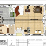 5 Mặt bằng công năng tầng 1 biệt thự tân cổ điển 3 tầng tại hòa bình sh btp 0135