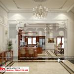 5 Thiết kế nội thất sảnh tầng 1 biệt thự pháp 5 tầng tại ninh bình sh btp 0134