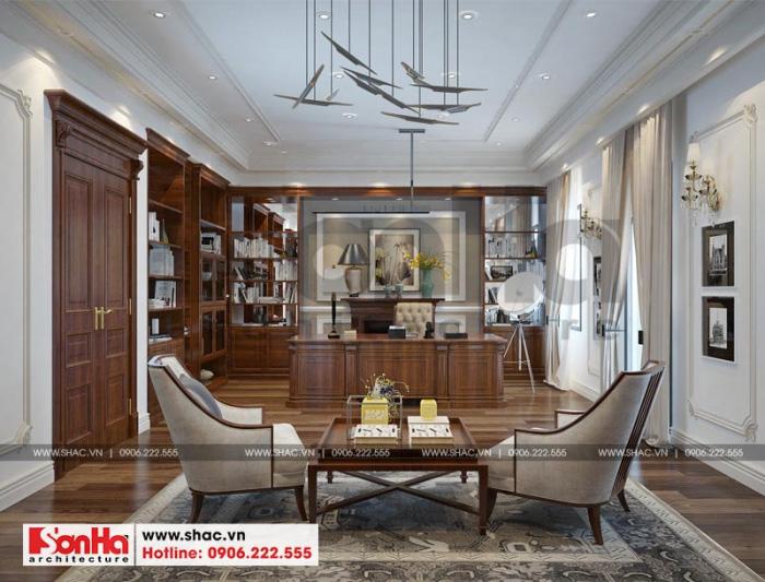 Mẫu nội thất phòng giám đốc được thiết kế đơn giản mà tinh tế nhưng vẫn thể hiện được sự trang nghiêm