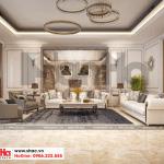 6 Mẫu nội thất phòng khách tầng 2 biệt thự phong cách pháp tại ninh bình sh btp 0134