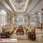 7 Thiết kế nội thất phòng sinh hoạt chung biệt thự lâu đài 3 tầng 1 tum tại gia lai