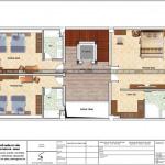 8 Mặt bằng công năng tang 3 biệt thự kiến trúc pháp tại ninh bình sh btp 0134