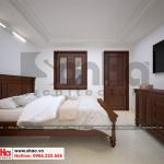 9 Thiết kế nội thất phòng ngủ giúp việc biệt thự cổ điển tại ninh bình sh btp 0134