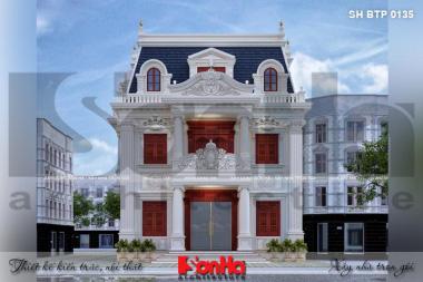 BÌA thiết kế biệt thự tân cổ điển 3 tầng đẹp tại hòa bình sh btp 0135