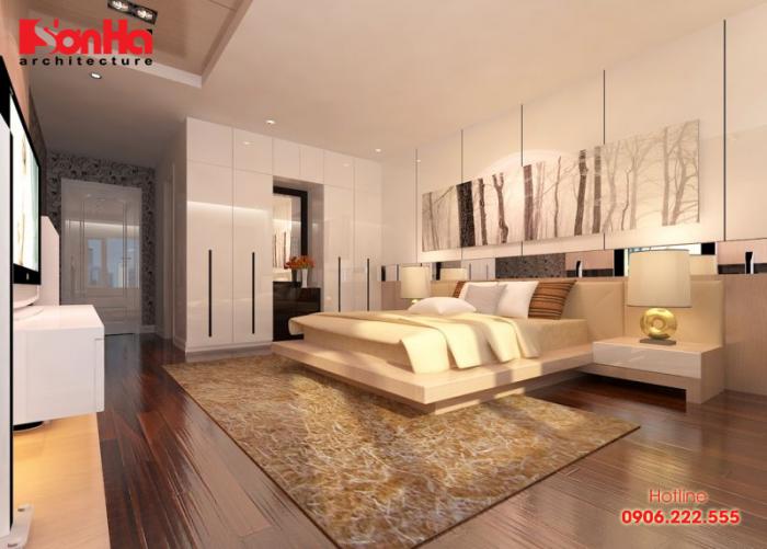Mẫu phòng ngủ đẹp được trang trí màu sắc hợp phong thủy mệnh Thổ