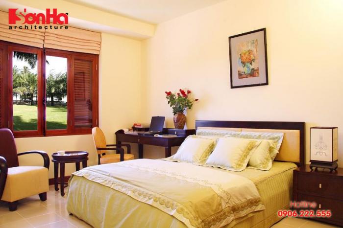 Mẫu phòng ngủ đẹp màu vàng hợp phong thủy cho gia chủ mệnh Thổ