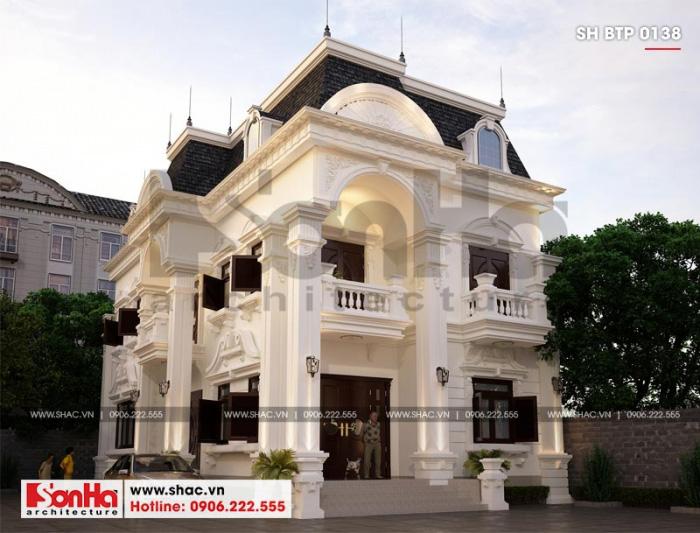 Thiết kế biệt thự tân cổ điển 2 tầng với sự kết hợp tinh tế cổ điển và hiện đại