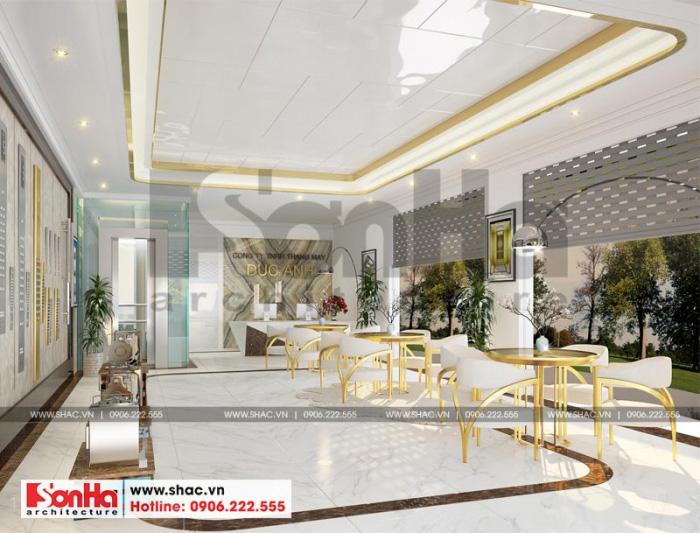 Thiết kế nội thất showroom tầng 1 thuộc tòa nhà văn phòng tại Waterfont City