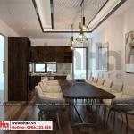 11 Thiết kế nội thất phòng bếp nhà phố liền kề tại khu đô thị waterfront hải phòng wfc 005