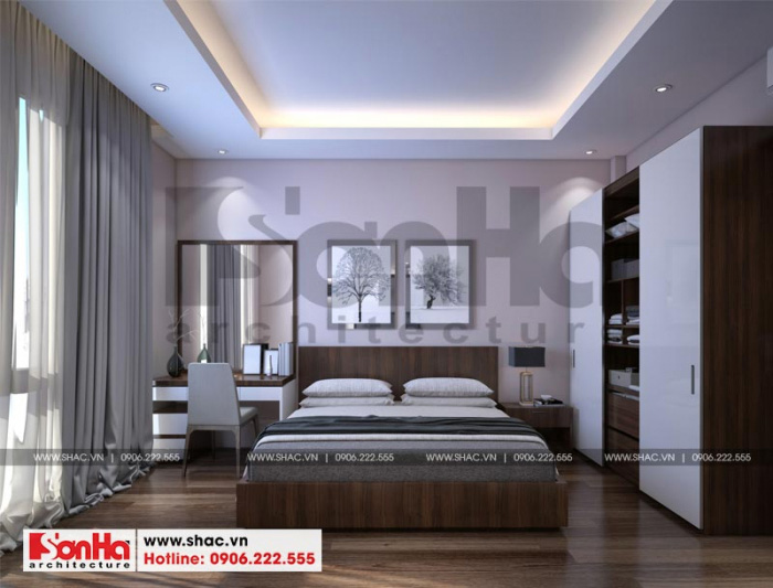Đồ nội thất gỗ công nghiệp màu sắc tinh tế giúp căn phòng thêm sinh động