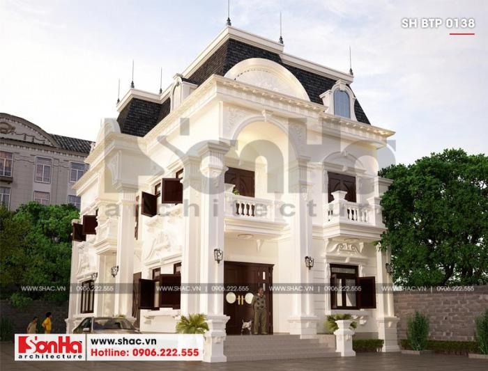Phương án thiết kế biệt thự 2 tầng phong cách tân cổ điển được đánh giá cao
