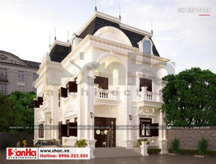 Từ mọi góc đặt mắt thiết kế của ngôi biệt thự phố tân cổ điển đều tinh tế
