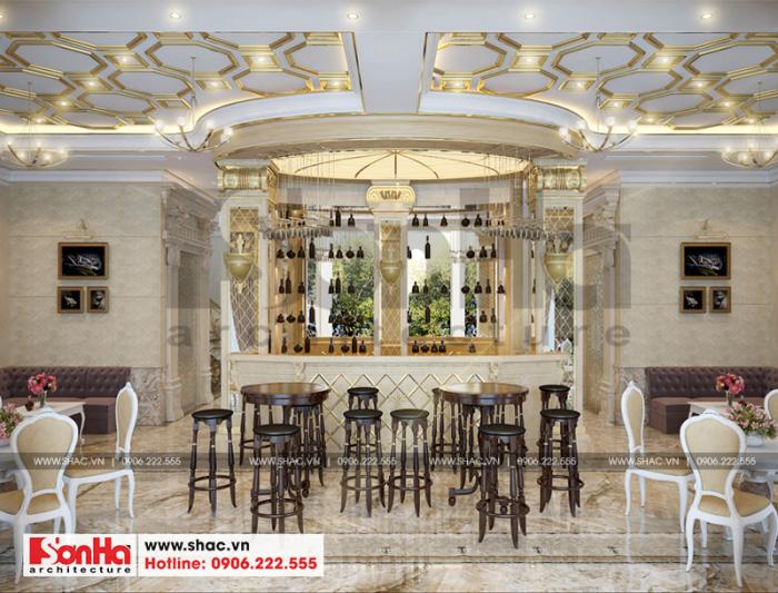 Thiết kế nội thất khu cafe của khách sạn 3 sao tại Bắc Ninh đẹp không kém