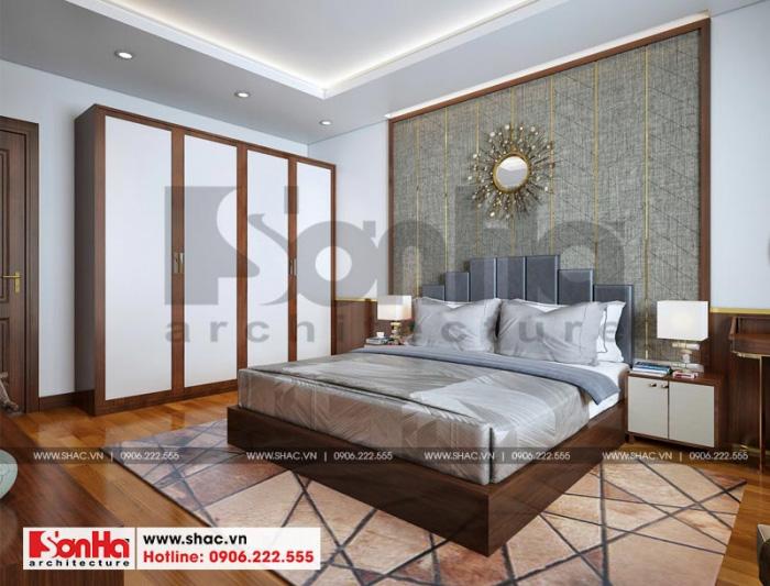 Phương án thiết kế nội thất phòng ngủ sang trọng cho nhà phố cổ điển