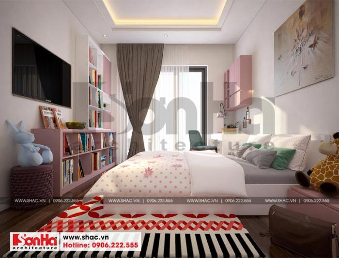 Thiết kế phòng ngủ hiện đại với sàn gỗ và sự tinh tế trong sử dụng màu sắc