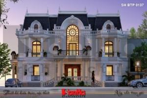 BÌA thiết kế biệt thự cổ điển kiểu pháp đẹp 3 tầng tại đức sh btp 0137