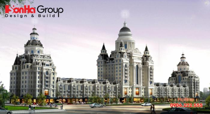 Phối cảnh dự án tòa nhà văn phòng, khách sạn, căn hộ Hanaka Từ Sơn