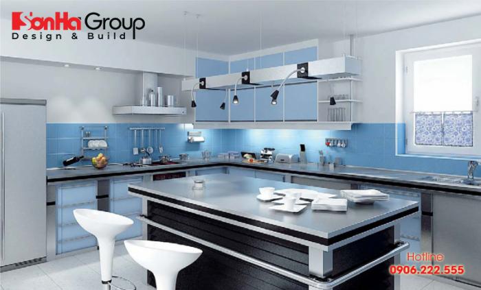 Một thiết kế nhà bếp sinh động và phong thủy cho gia chủ mệnh Thủy
