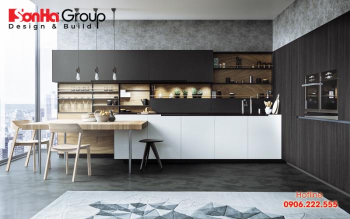 Thiết kế phòng bếp đẹp với màu sắc hợp phong thủy người mệnh Mộc