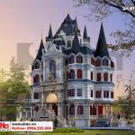 1 Thiết kế biệt thự lâu đài kiểu cổ điển đẹp tại hà nội sh btld 0039