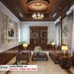 1 Thiết kế nội thất phòng khách kiểu tân cổ điển tại hải phòng sh btp 0139