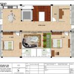 10 Bản vẽ lầu 4 văn phòng kết hợp căn hộ cho thuê 5 tầng tại sài gòn sh vp 0036