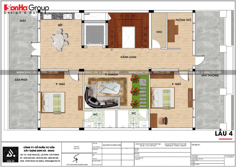 Thiết kế văn phòng kết hợp cho thuê diện tích 10x18m tại Sài Gòn – SH VP 0036 9