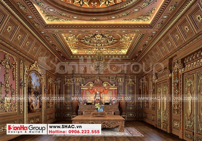 Thiết kế biệt thự lâu đài diện tích 18x9m 4 tầng 1 hầm 1 tum tại Hà Nội – SH BTLD 0039 20