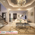 10 Bố trí nội thất sảnh tầng 2 biệt thự tân cổ điển 3 tầng tại hải phòng sh btp 0139