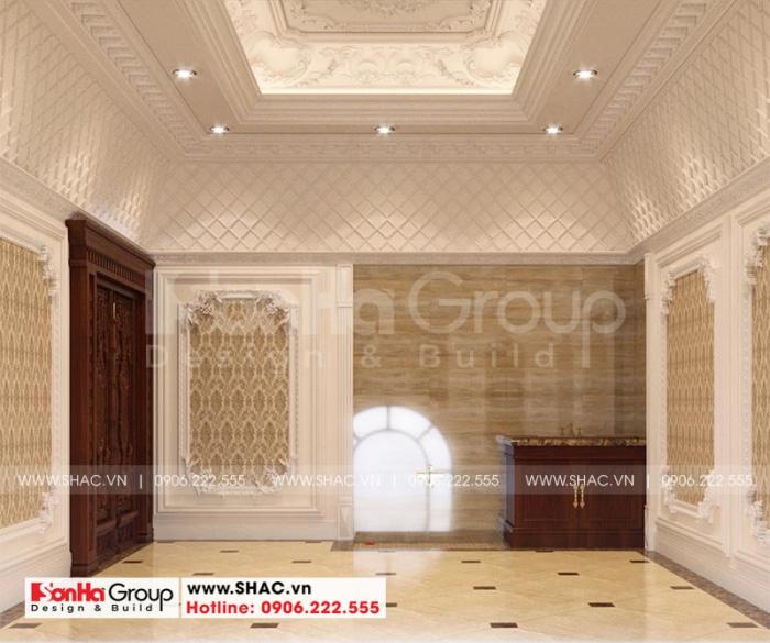 Thiết kế phòng kho rộng rãi tại tầng hầm của ngôi biệt thự lâu đài sang trọng