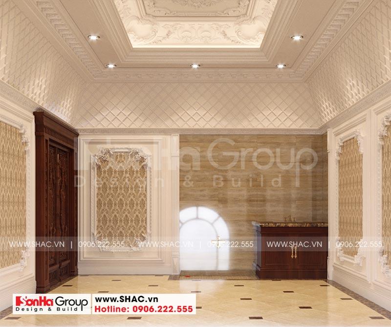 Thiết kế biệt thự lâu đài diện tích 18x9m 4 tầng 1 hầm 1 tum tại Hà Nội – SH BTLD 0039 21